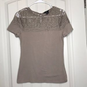H&M Lace Cream Shirt - Perfect for Interviews!